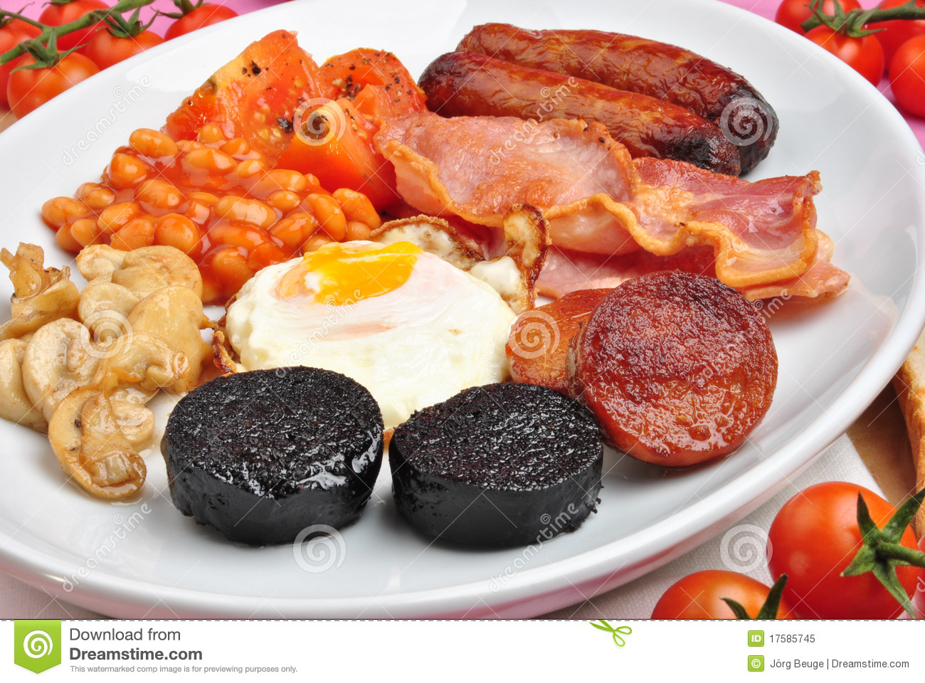 Irish Breakfast On A Large Plate Royalty Free Stock Photo - Image ...