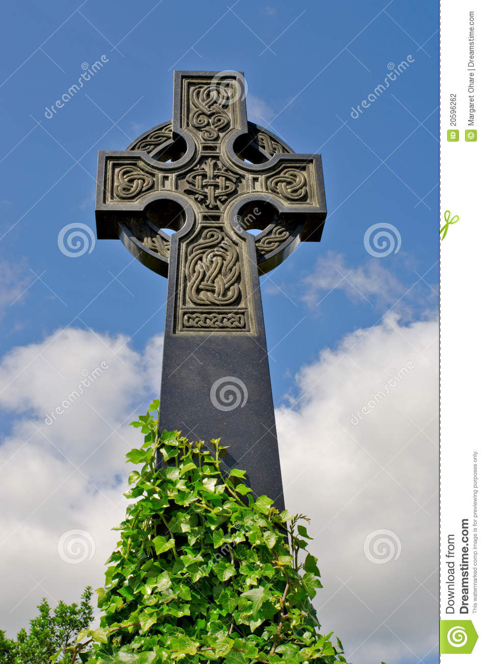 Irish Celtic Cross With Celtic Designs Stock Photo Image Of - Irish landmarks