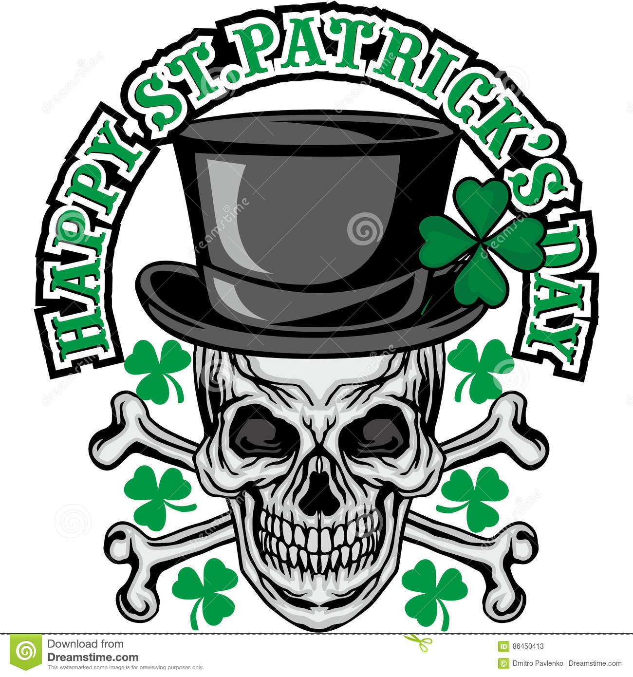 Irish coat of arms with skull and clover stock illustration irish coat of arms with skull and clover halloween night buycottarizona Images