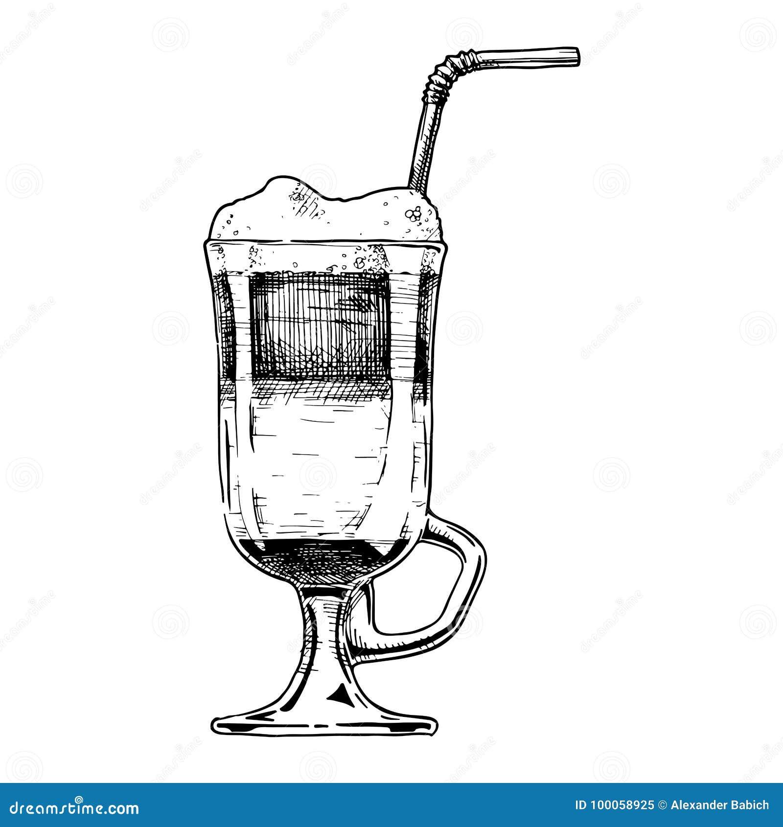 Illustration of Irish coffee
