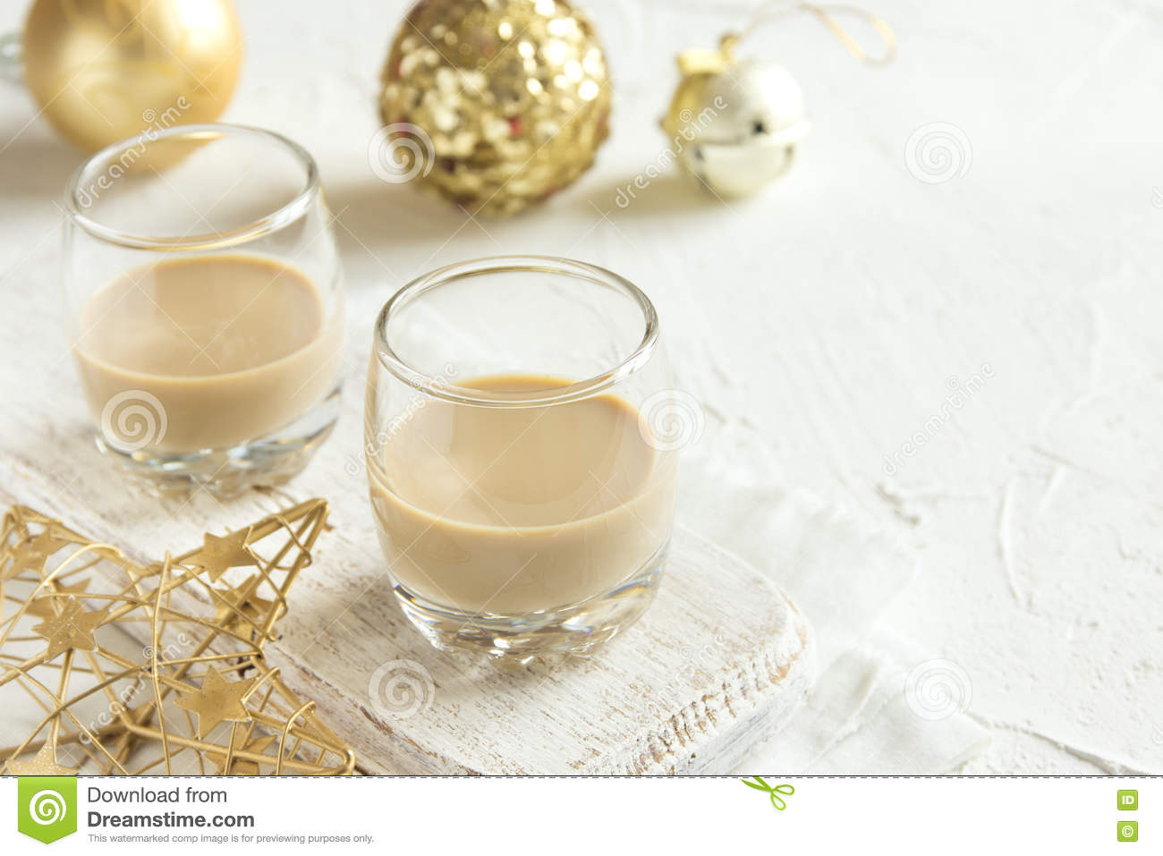 Irish cream for Christmas stock image. Image of milk - 77611373