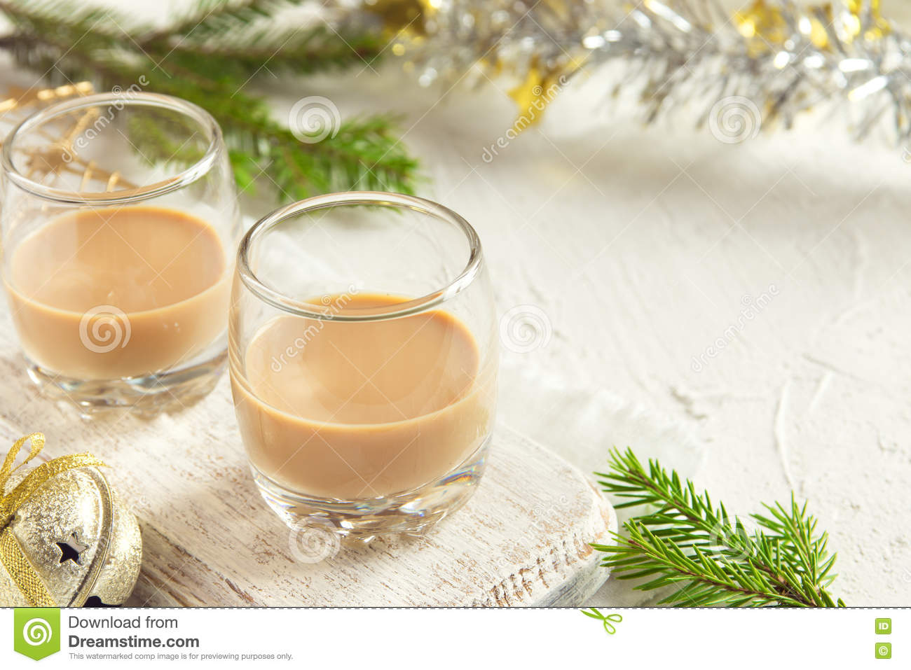 Irish Cream Coffee Liqueur For Christmas Stock Image - Image of ...
