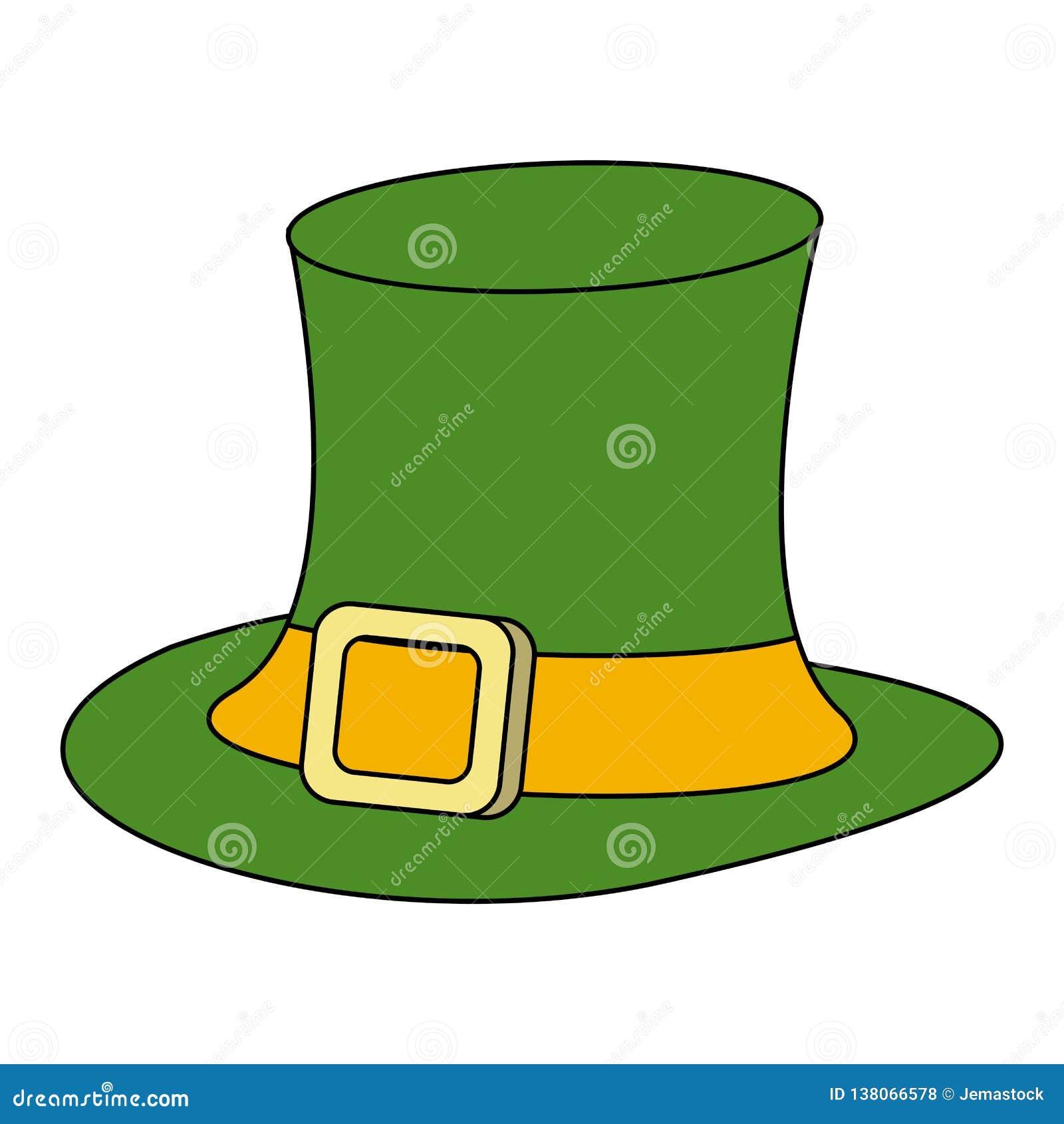 d62a39649cd49 Irish elf hat cartoon vector illustration graphic design. More similar stock  illustrations