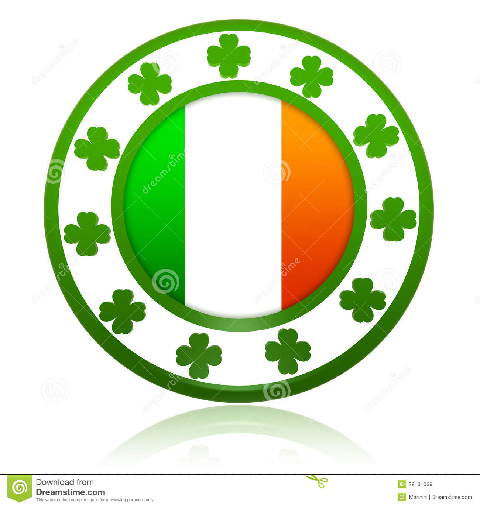 ireland button flag round shape stock image image 6592441