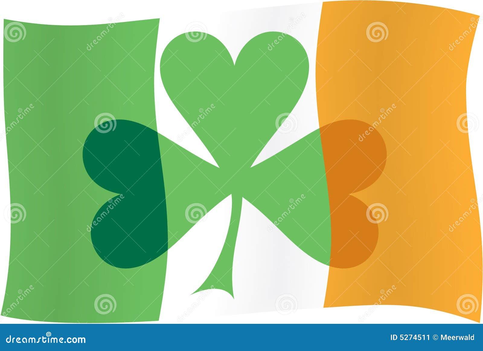 Irish Flag & Irish Shamrock Stock Image - Image: 5274511