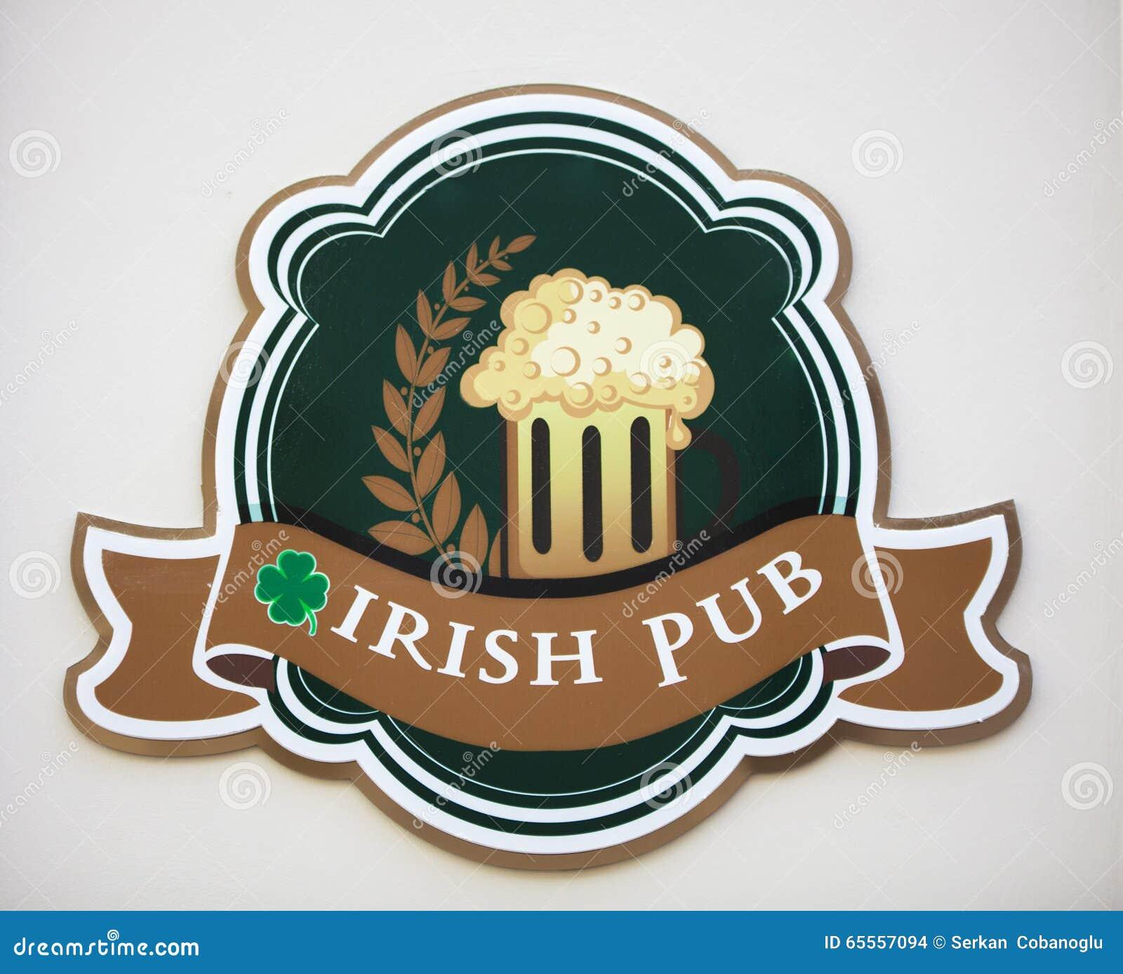 Download Irish pub signboard stock photo. Image of board, irishbar - 65557094