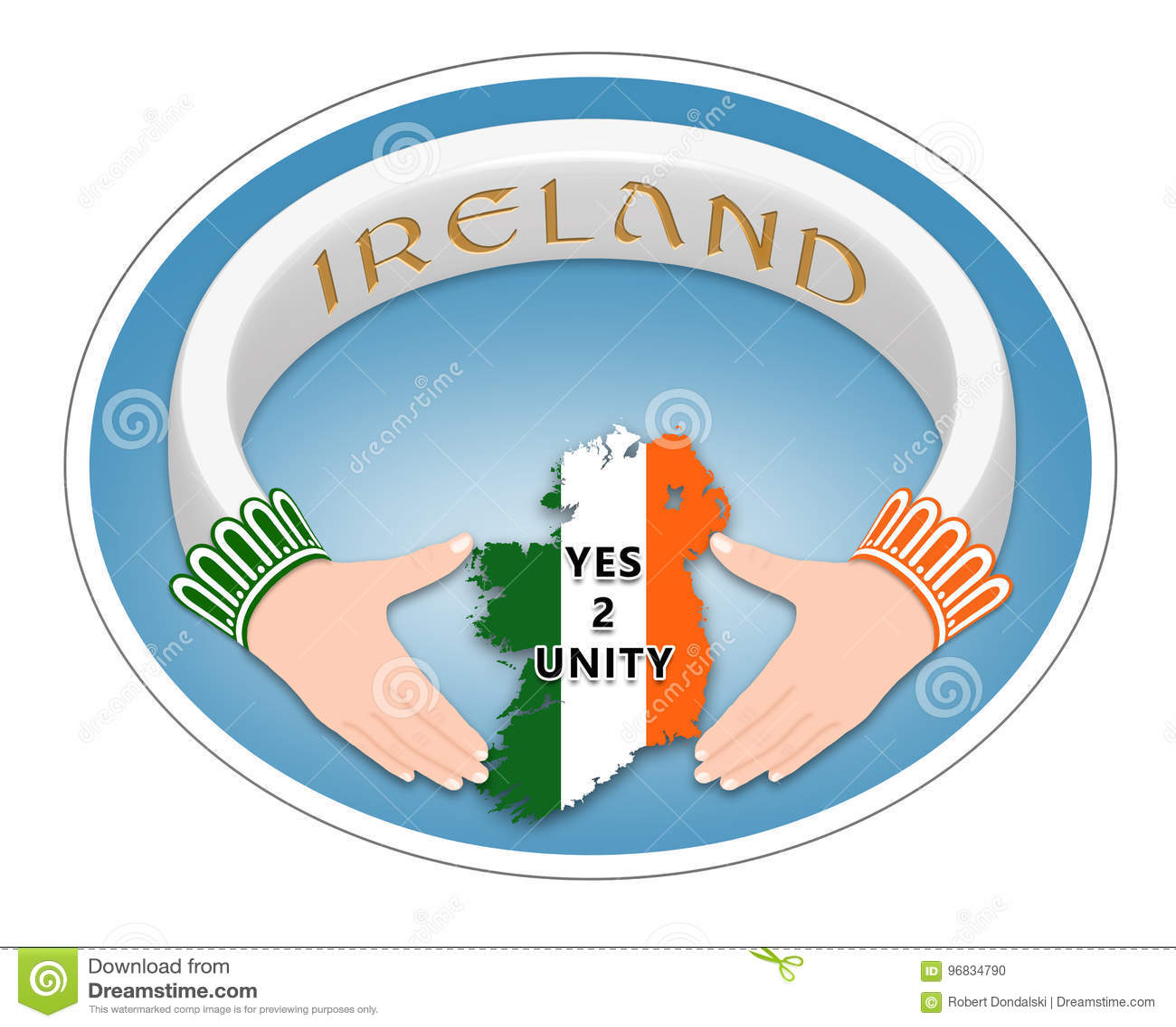 Irish Ring Stock Illustration Illustration Of Font Line 96834790