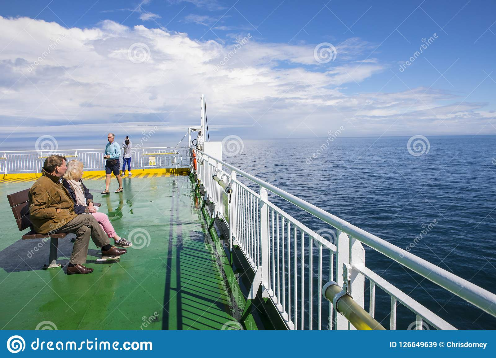 Ferry To Ireland From Holyhead >> Ferry On The Irish Sea Editorial Stock Image Image Of Ship