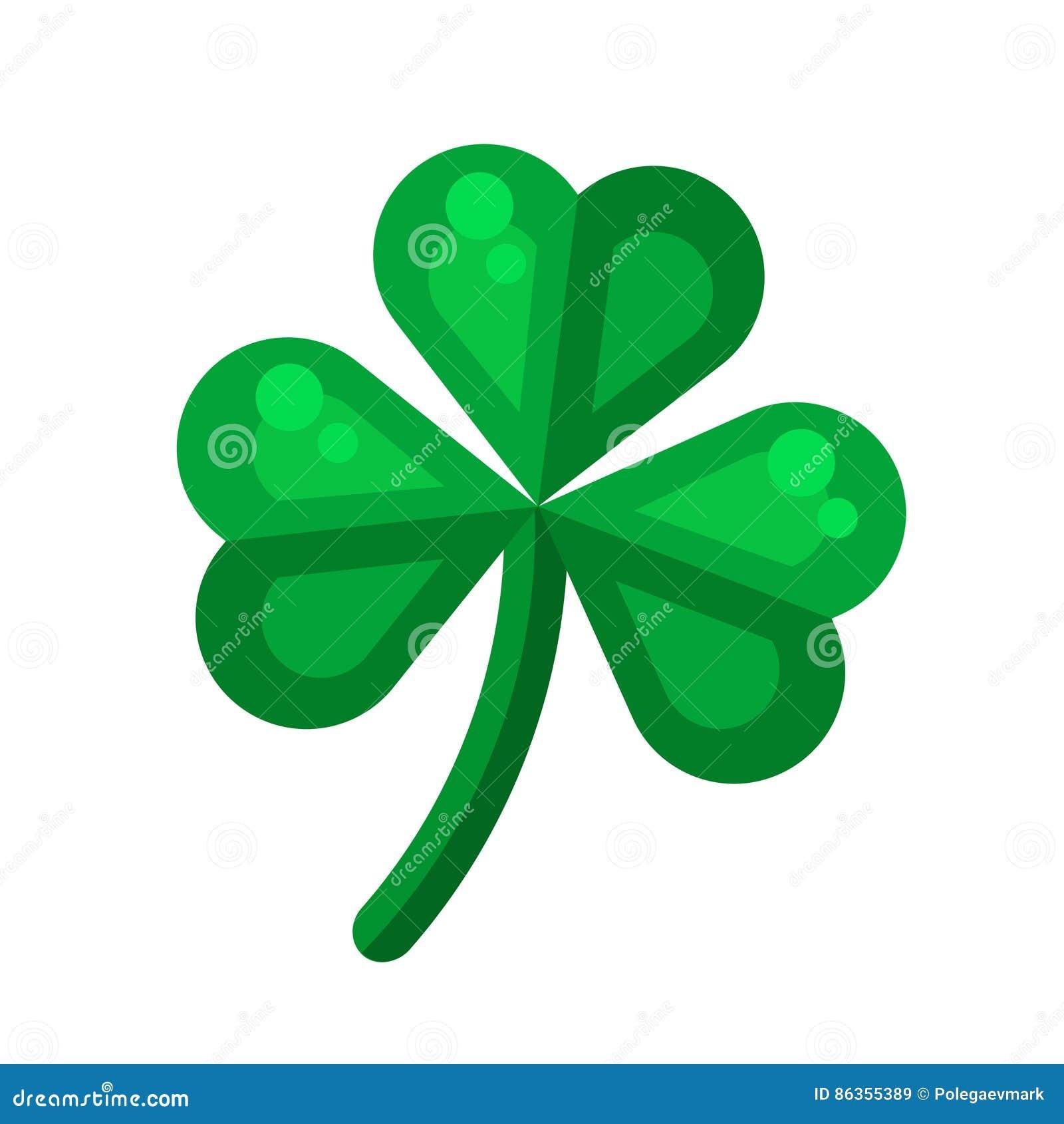 Irish shamrock icon in flat style design three leaf clover symb irish shamrock icon in flat style design three leaf clover symb biocorpaavc Gallery