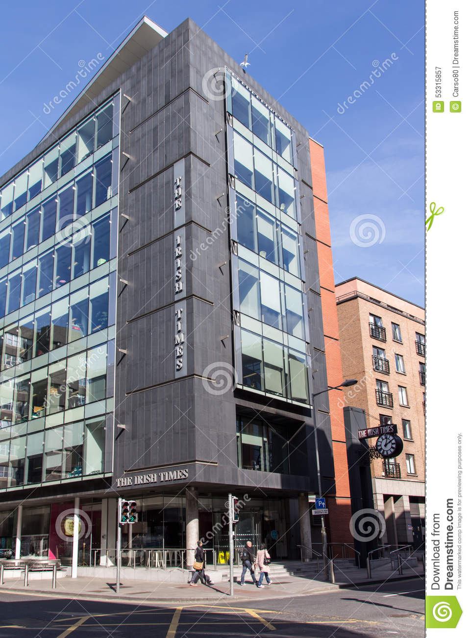 The irish times building in dublin ireland 2015 editorial photography image 53315857 - Irish times office dublin ...