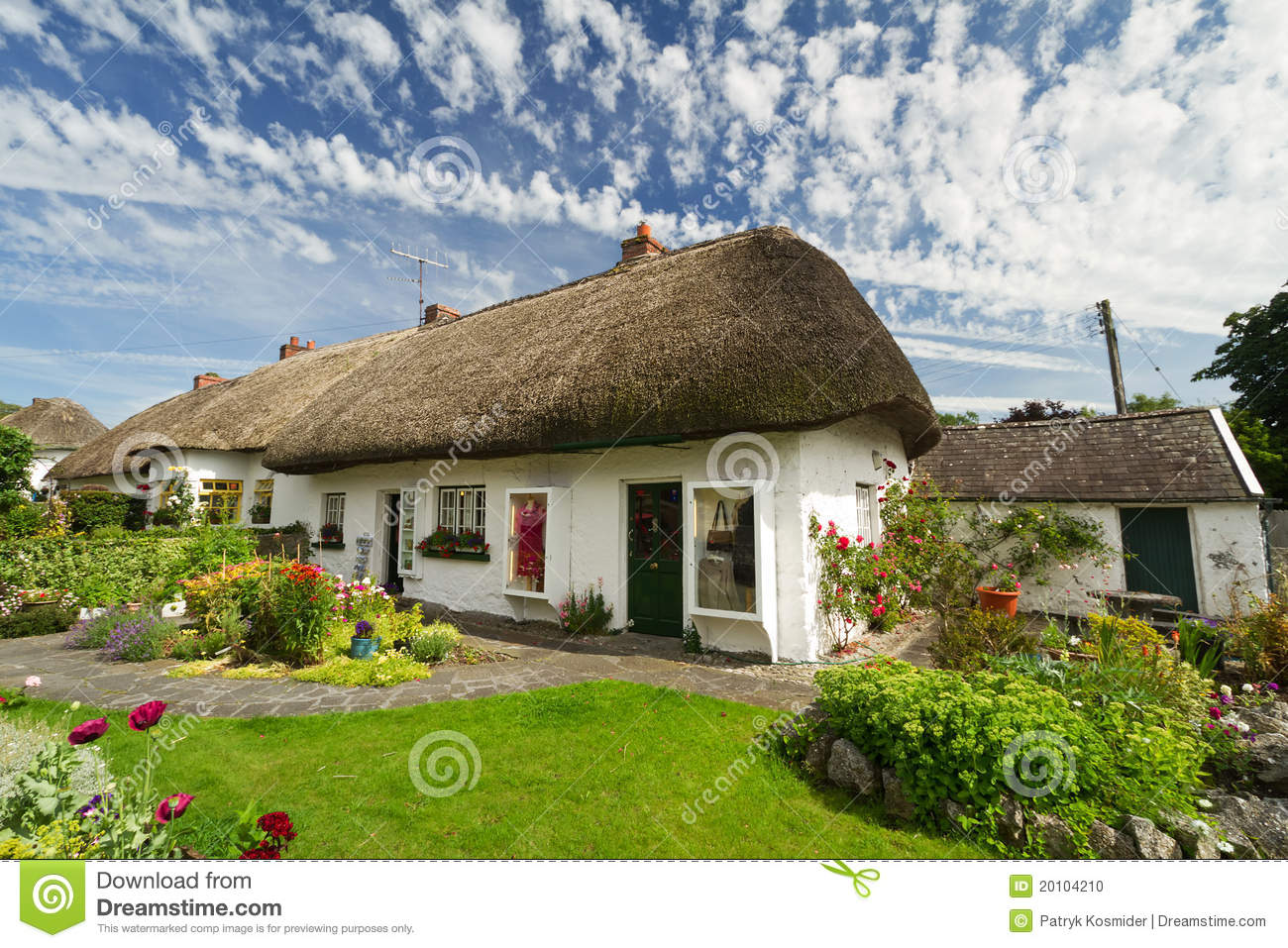 Irish traditional cottage house stock photo image 20104210 for Traditional irish cottage designs