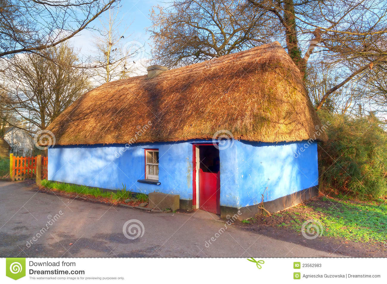 Stock photos irish traditional cottage house image 23562983 for Traditional irish cottage designs