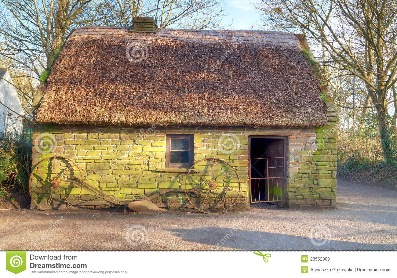 Royalty free stock images irish traditional cottage house for Traditional irish cottage designs