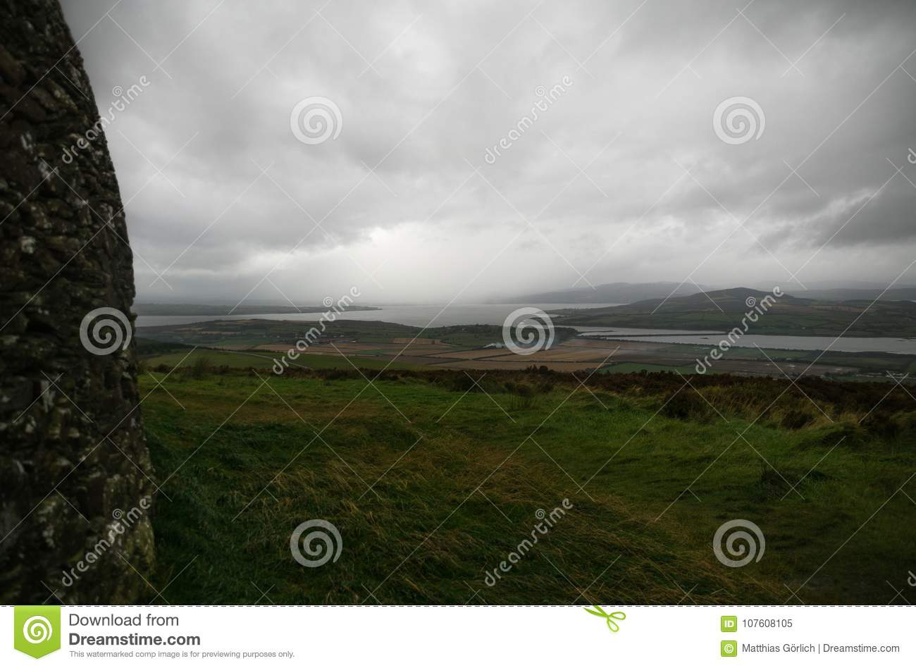Irlandczyka Ringowy fort w Donegal aileach grianan