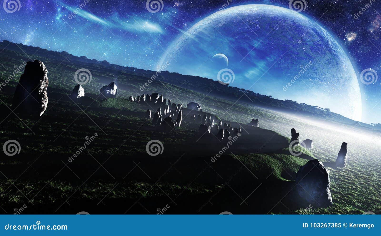Irlandia ` s Stonehenge Niebiańska fantazja