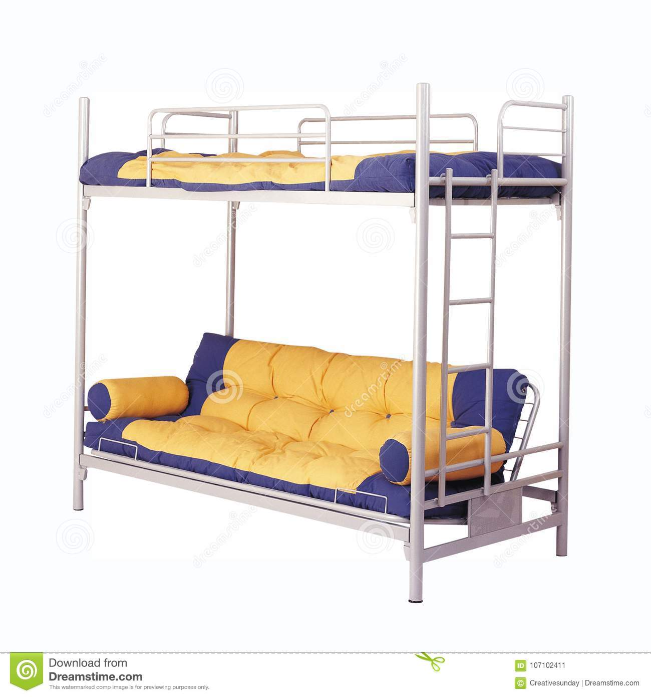 Picture of: Two Stories Bunk Bed Stock Image Image Of Clipping 107102411