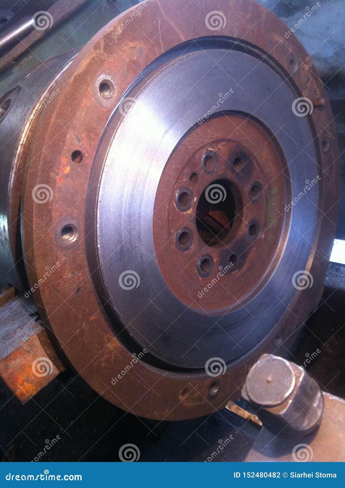 Iron car flywheel