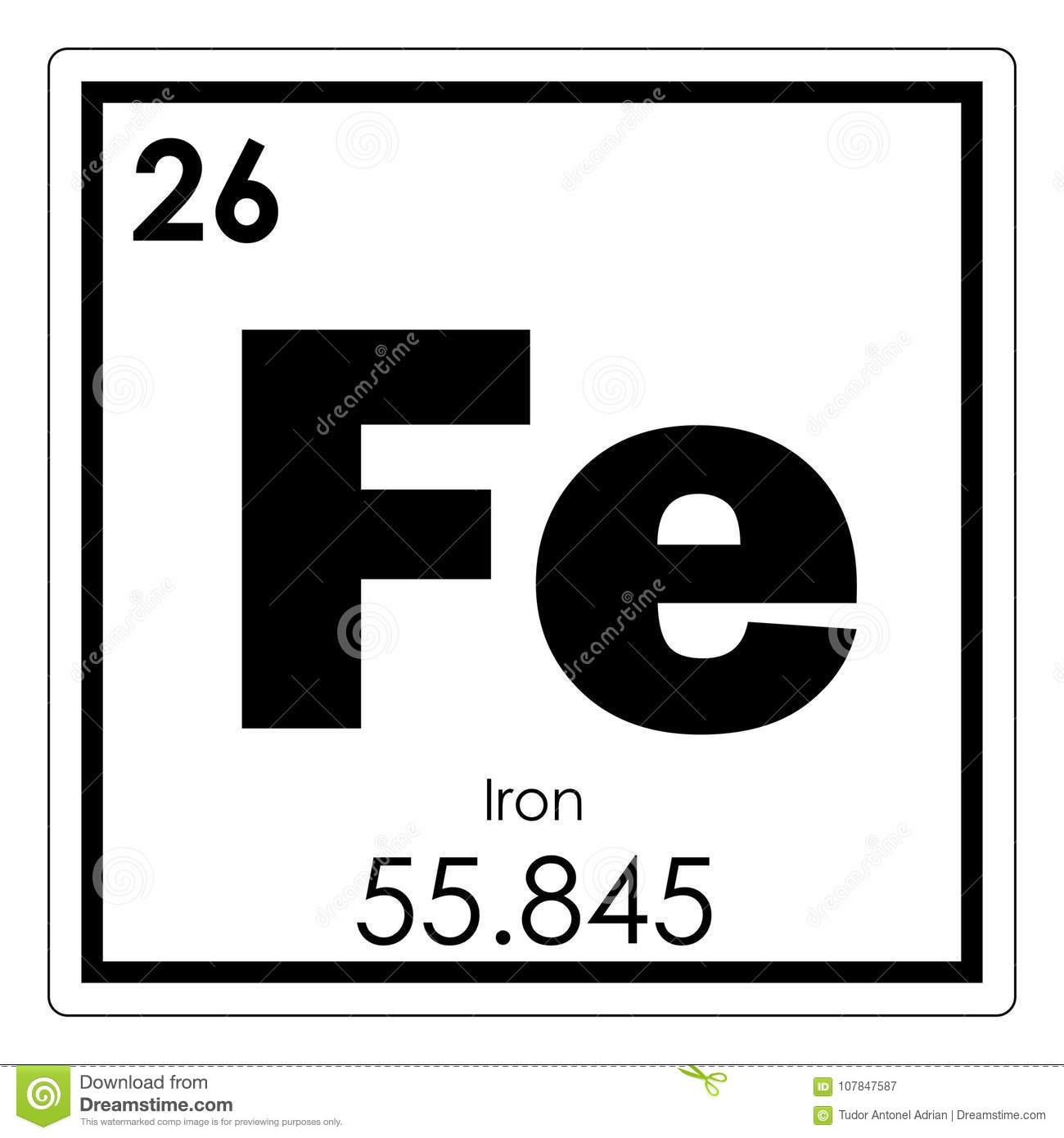 Iron chemical element stock illustration illustration of science iron chemical element urtaz Image collections