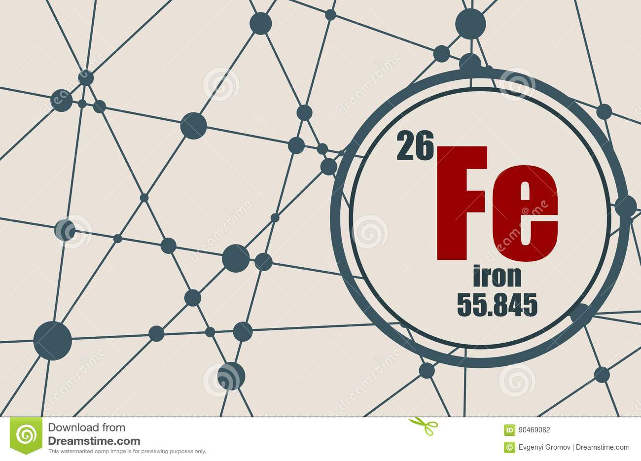 Iron chemical element stock vector illustration of layout 90469082 download comp urtaz Images