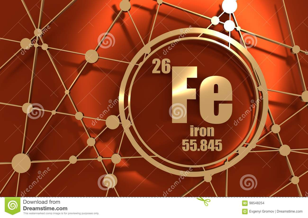 Iron chemical element stock illustration illustration of element iron chemical element sign with atomic number and atomic weight chemical element of periodic table molecule and communication background urtaz Choice Image