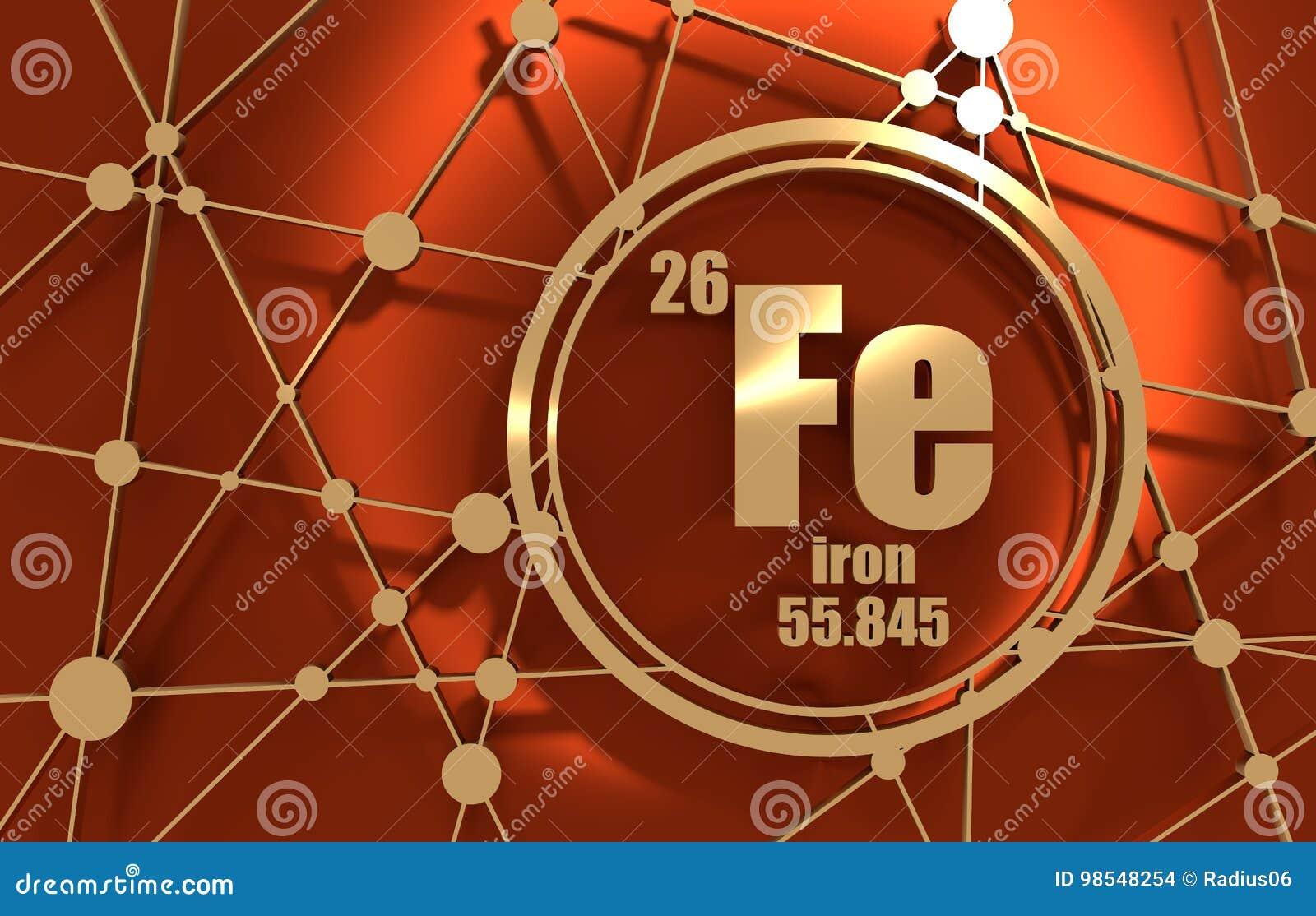 Iron Chemical Element Stock Illustration Illustration Of Element