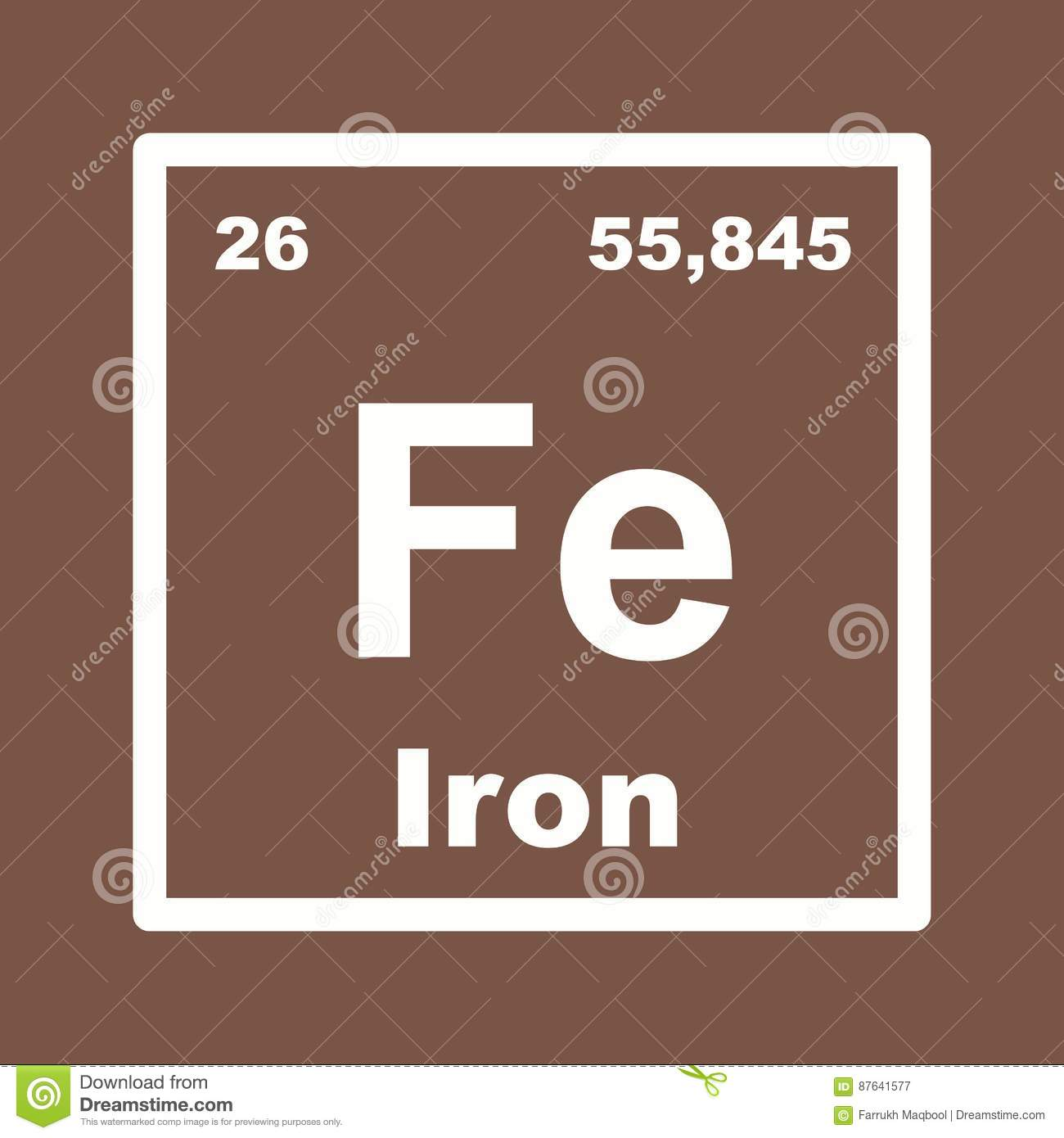 Iron stock vector  Illustration of chemical, science - 87641577