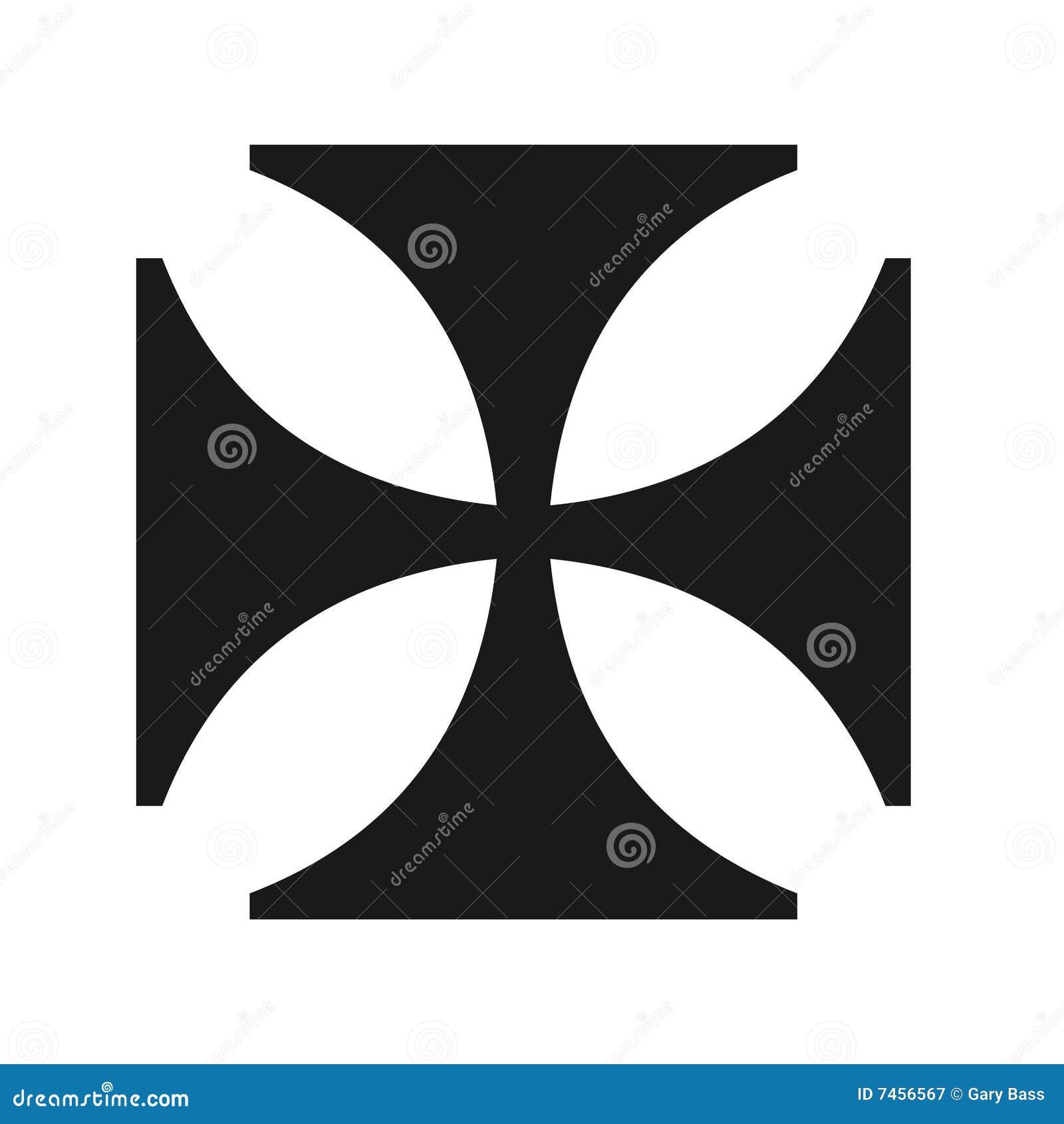 Iron Cross Symbol Stock Illustration Illustration Of Symbols 7456567