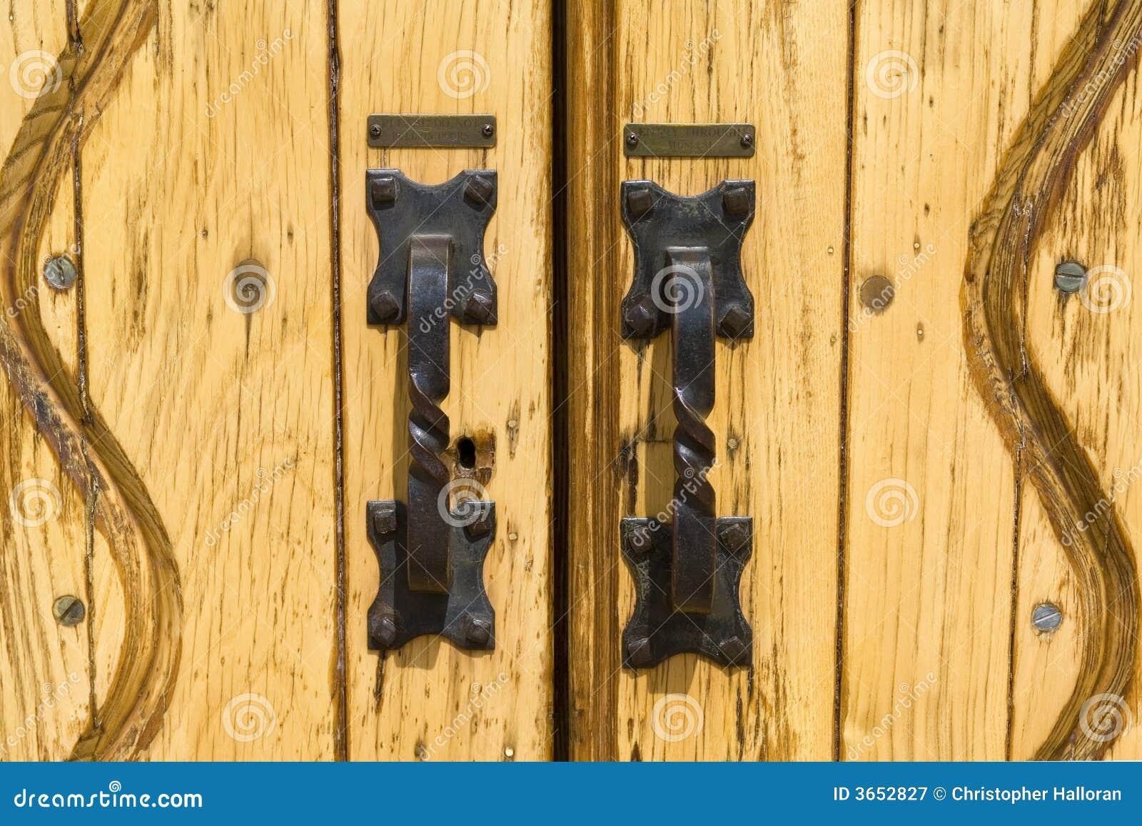 Iron door handles