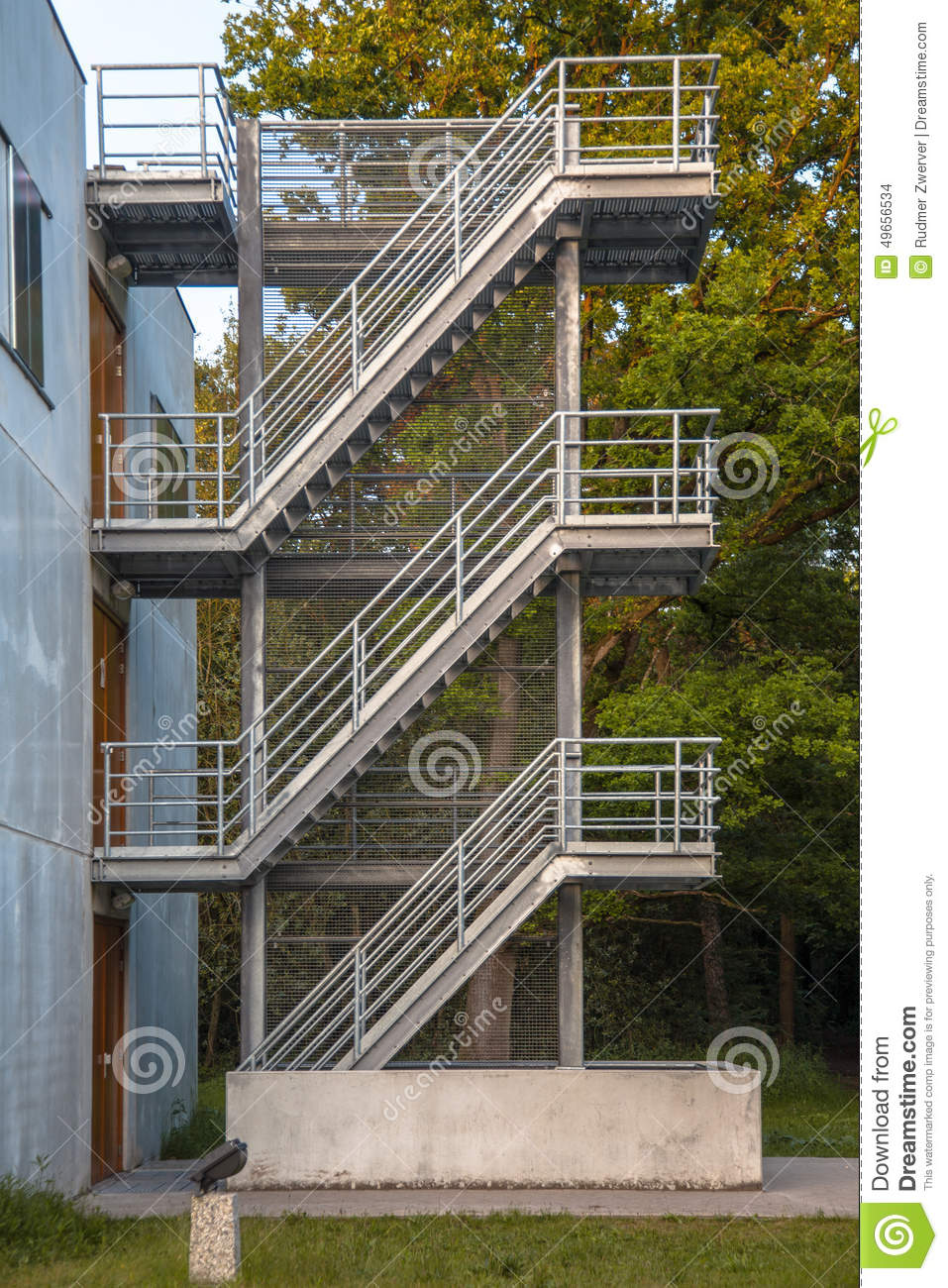 House Exterior Stair Tower : Iron emergency escape stairs stock photo image of