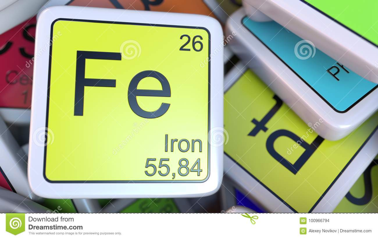 Iron fe block on the pile of periodic table of the chemical royalty free illustration download iron fe block on the pile of periodic table gamestrikefo Gallery