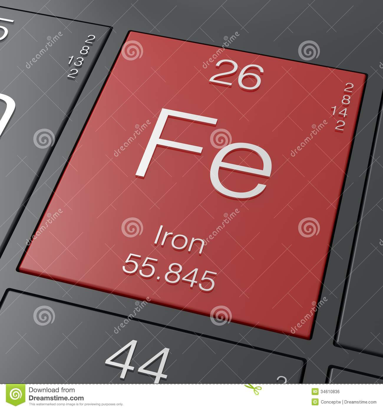 Iron fe stock illustration image of physics periodic 34610836 royalty free stock photo gamestrikefo Image collections
