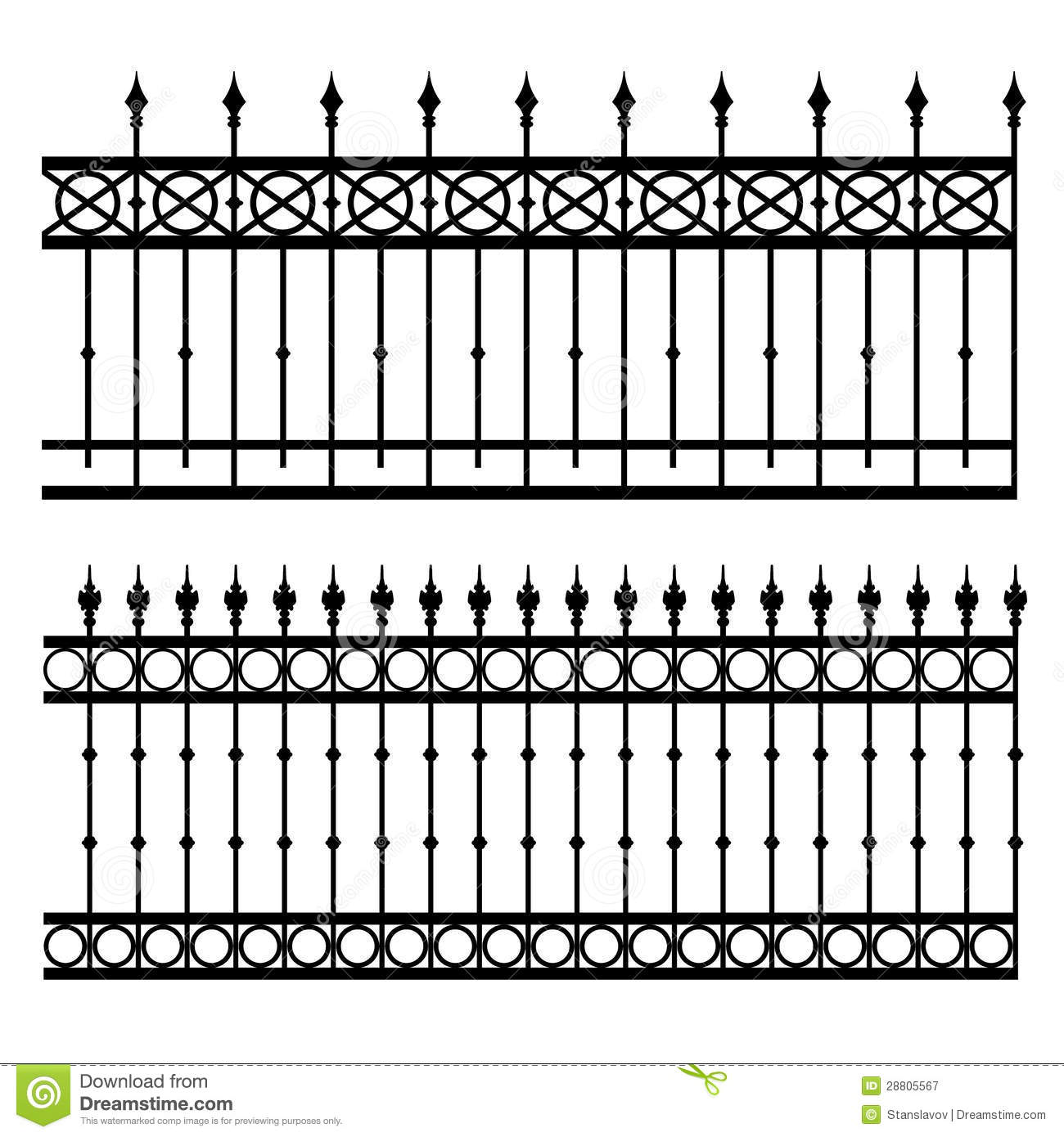 Iron Fence Stock Illustration Illustration Of Image