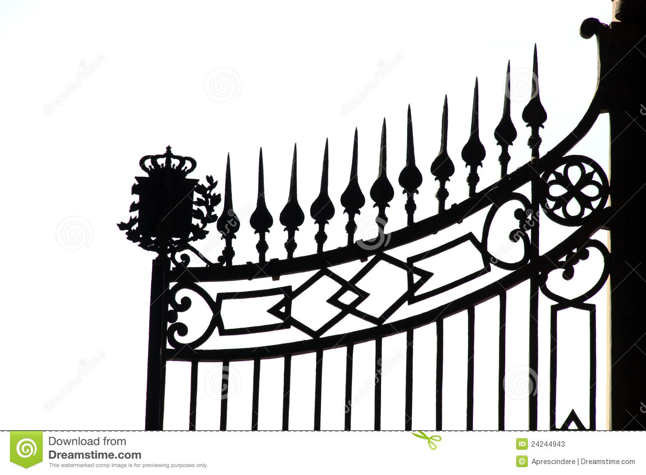 Iron Gate Stock Image Image Of Elegant Detail Frame
