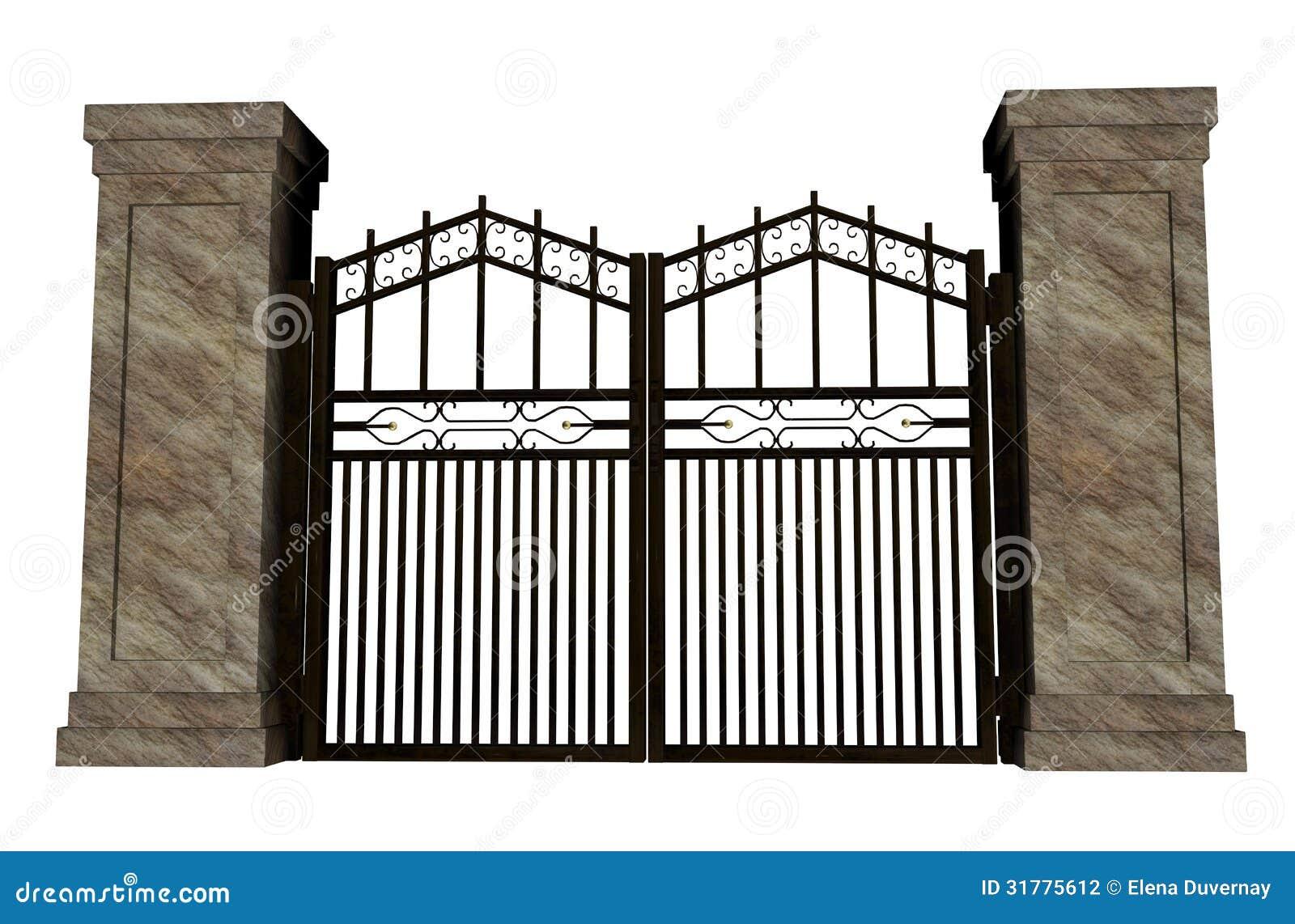 Iron Gate Stock Illustration Image Of Luxury Iron Stone