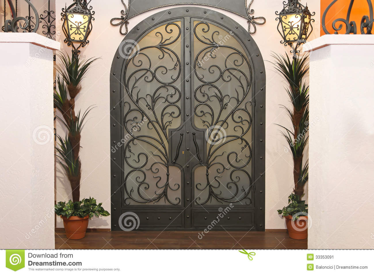 Iron Gate Doors Stock Image Image Of Arch Ironwork