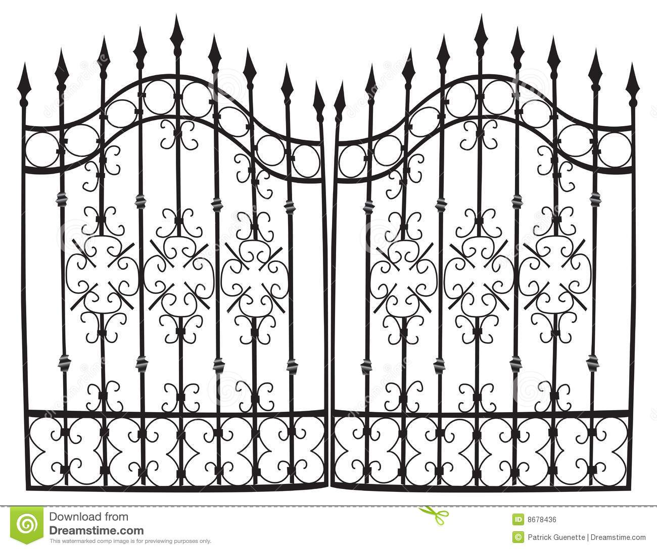Iron Gate Full Vector Royalty Free Stock Image Image