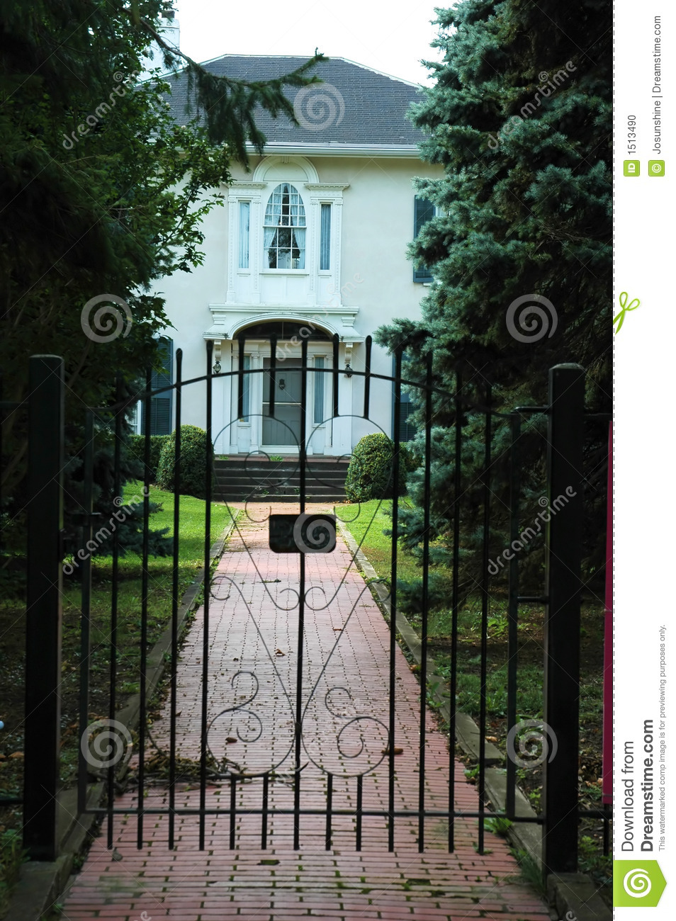 Iron gate house entrance