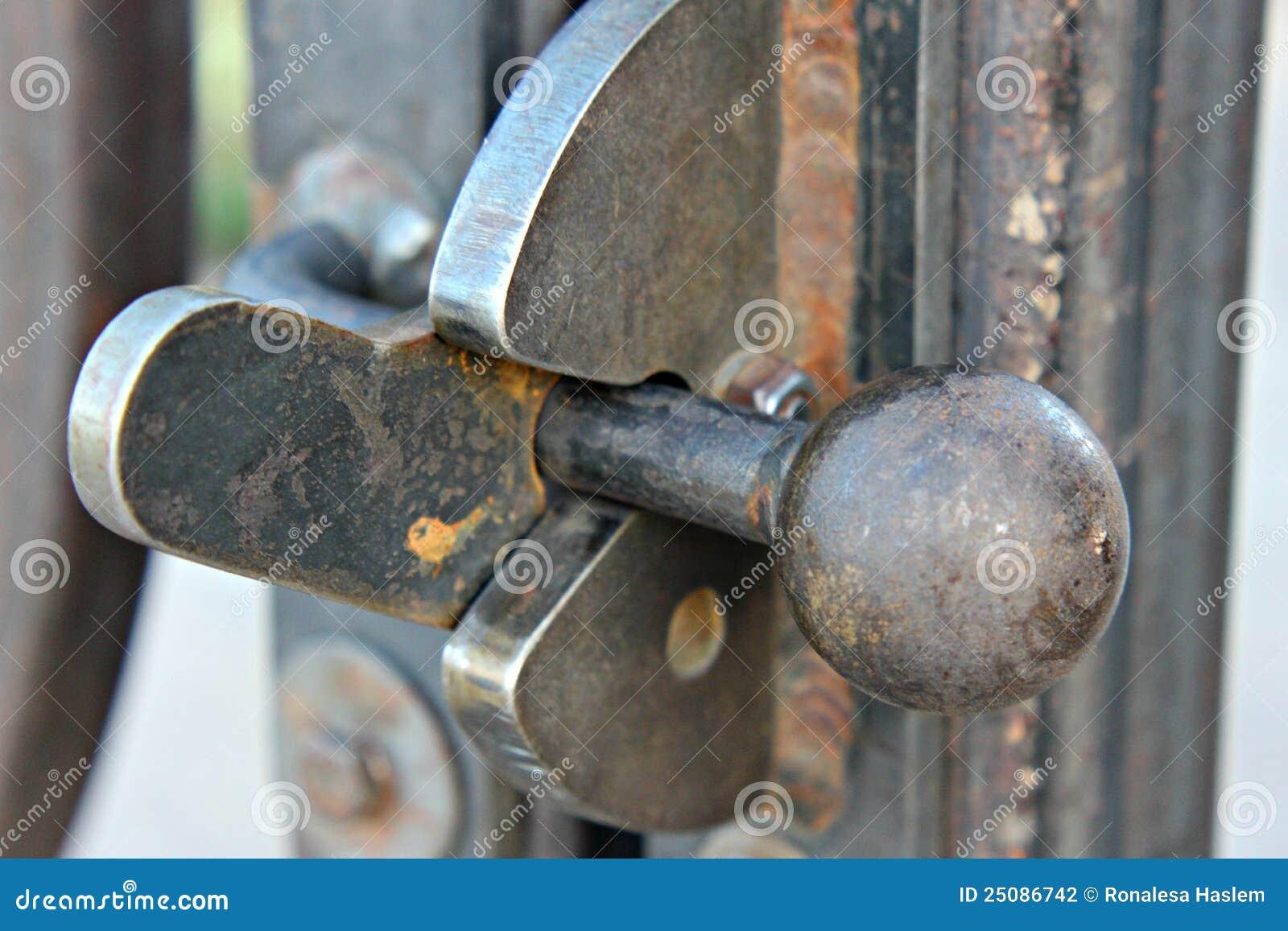 Iron Gate Latch Stock Photo Image Of Mechanism Latching