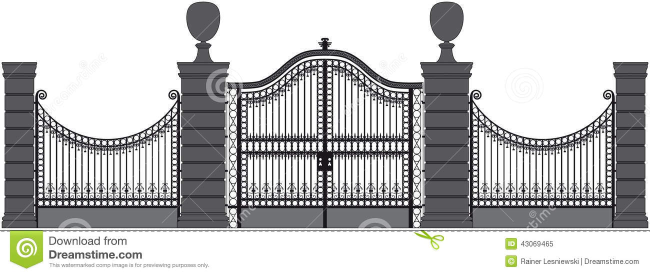 Iron Gate Stock Vector Image Of Design Isolated