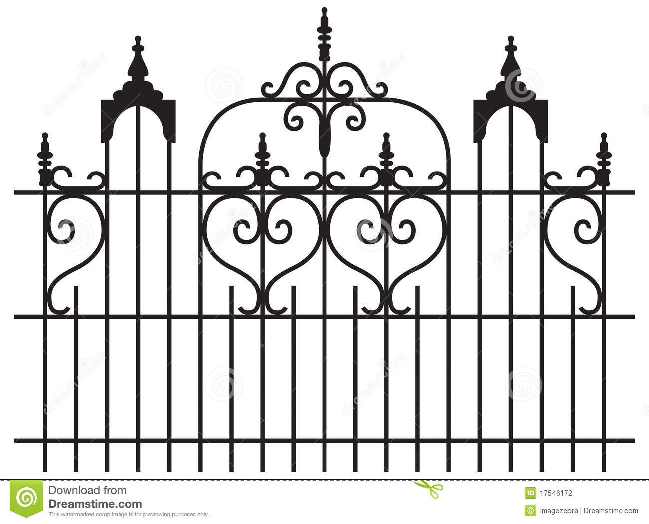 Iron gates stock photography image