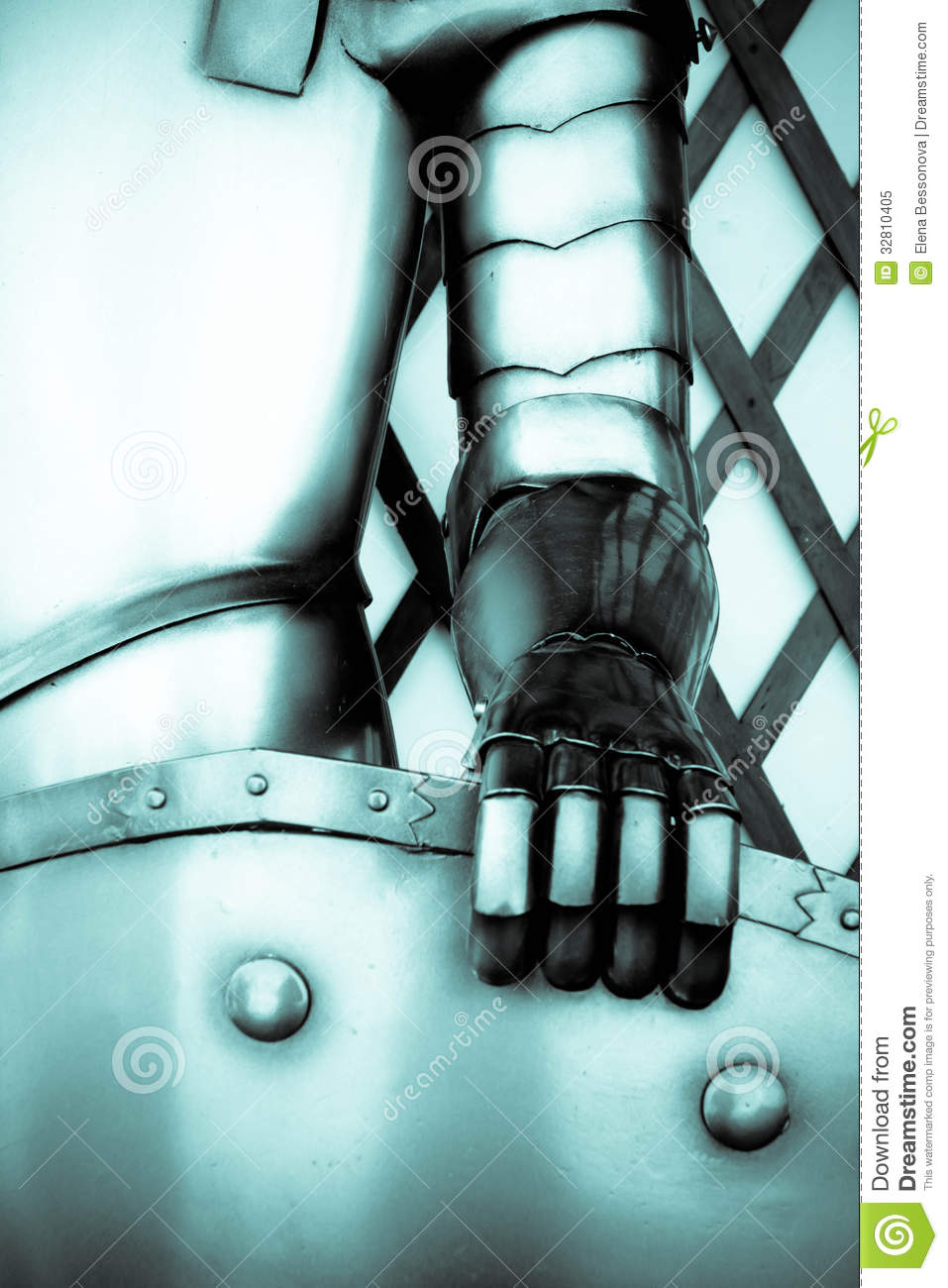 the iron hand of a knight royalty free stock photo image