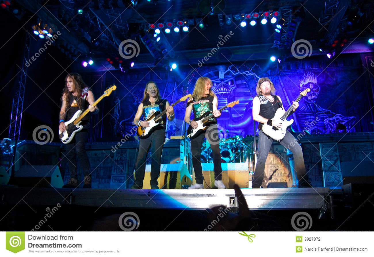 iron maiden in concert editorial photography image 9927872. Black Bedroom Furniture Sets. Home Design Ideas