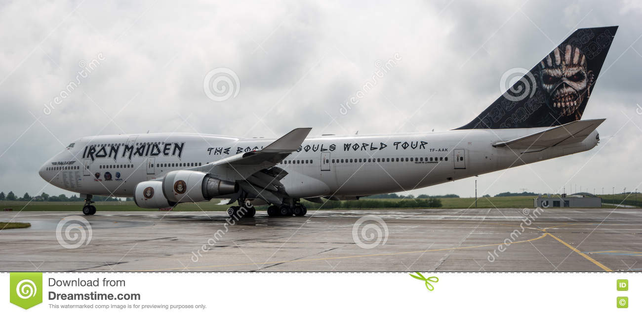 Iron Maiden\'s Boeing 747 Ed Force One Editorial Photography - Image ...