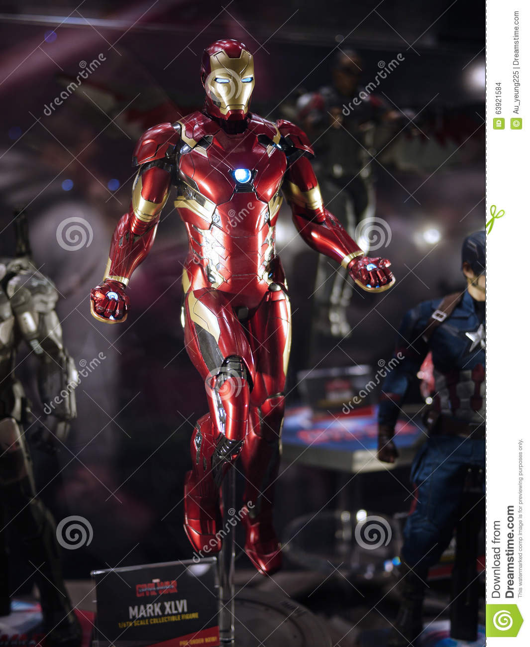 iron man mark 46 in toy soul 2015 editorial stock image