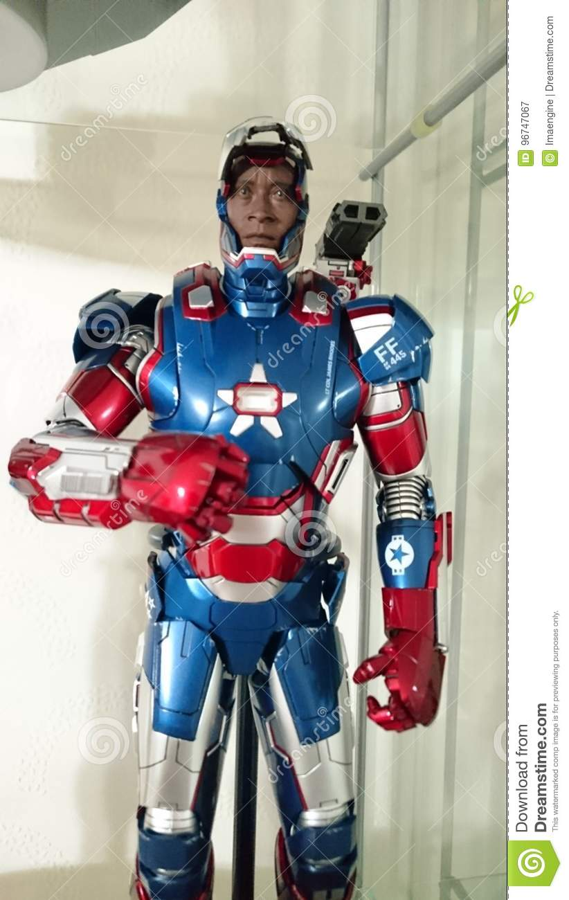 Iron patriot armor suit editorial photography  Image of suit