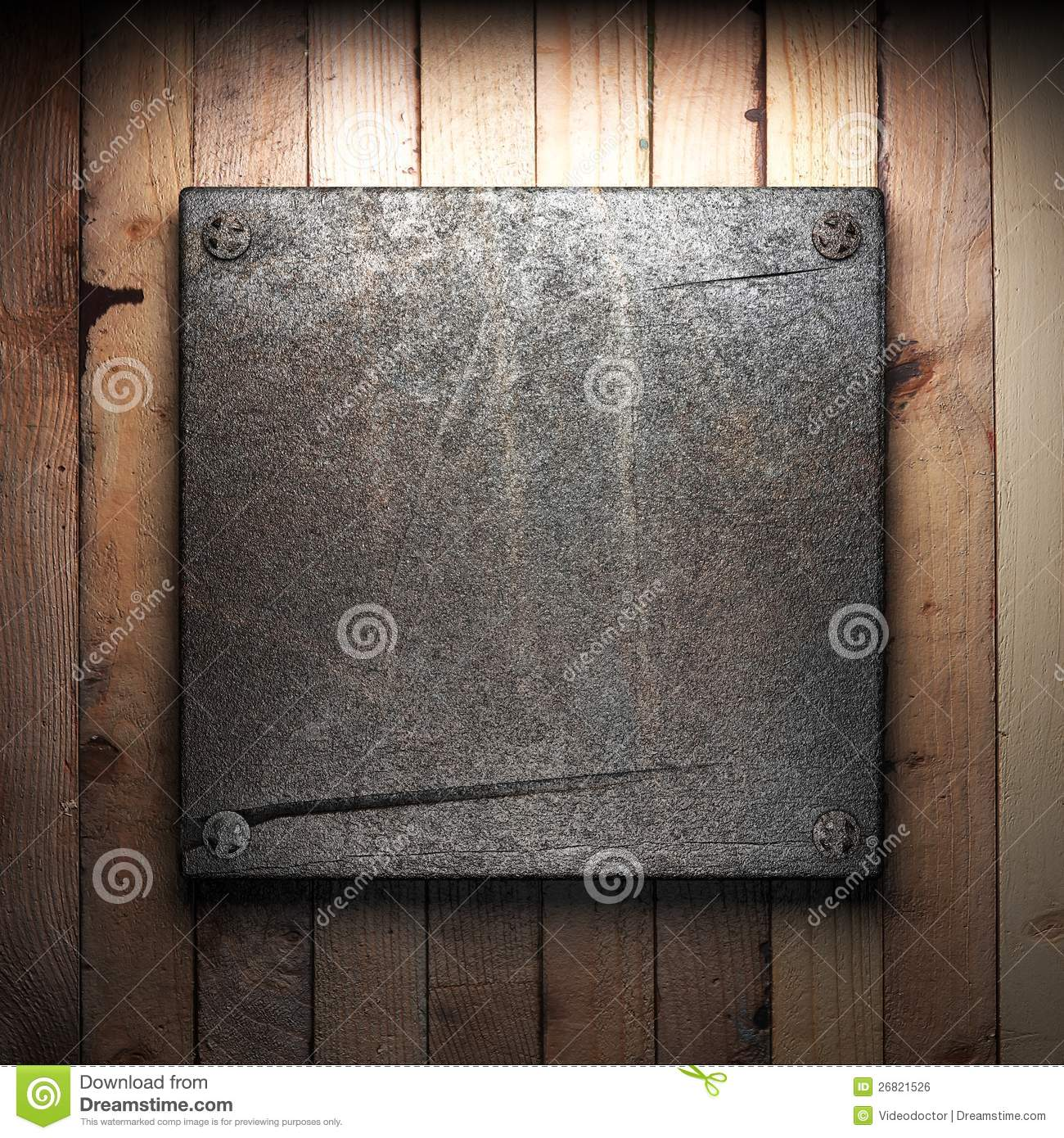 Iron Plate On Wall Royalty Free Stock Image Image 26821526