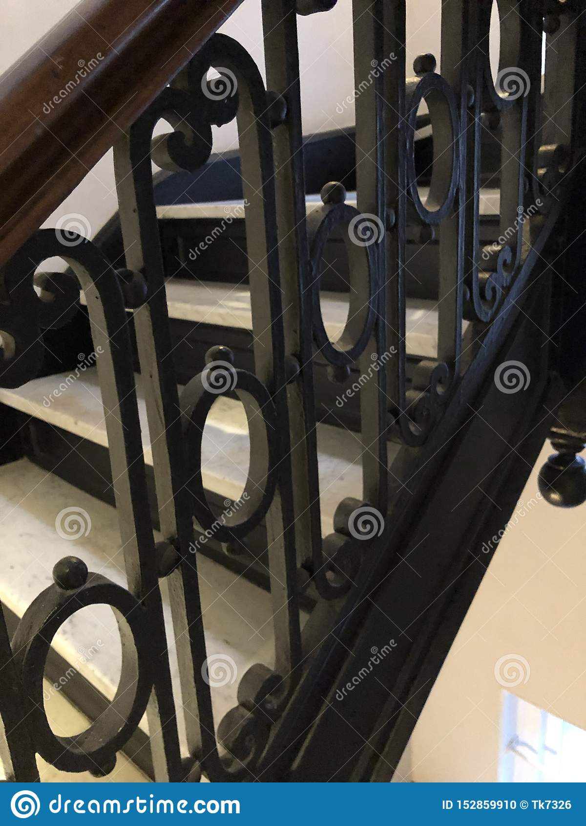 Wrought Iron Stair Railing Stock Photo Image Of Wrought 152859910