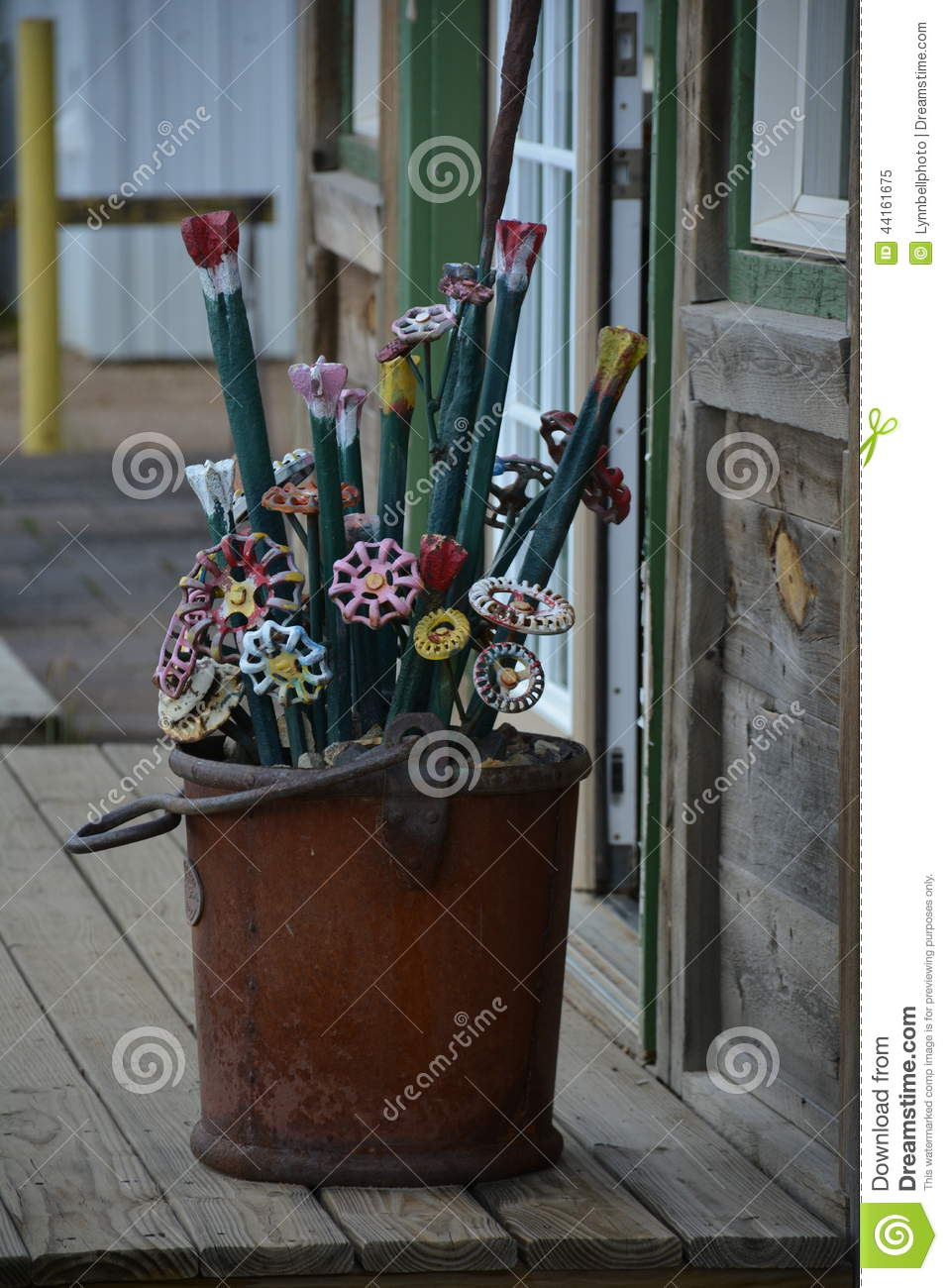 Iron Spicket Flower Art stock image. Image of rusty, arrangement ...