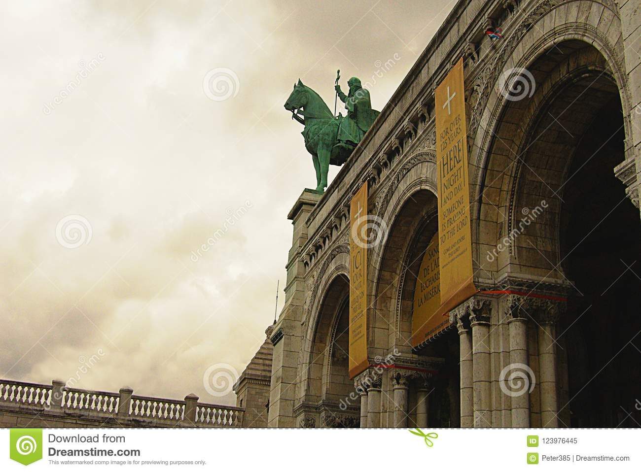 Download Iron Statue Of Rider Riding Editorial Image - Image of architecture, landmark: 123976445