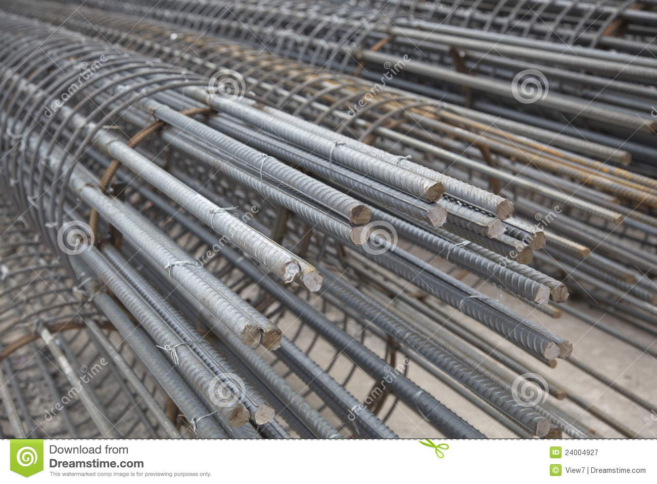 Iron And Steel Reinforcement Stock Image - Image: 24004927